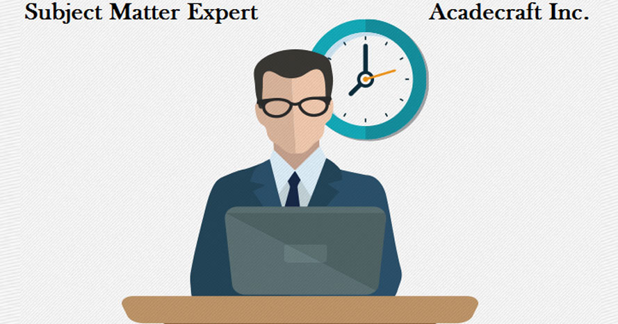 SMEs are not professors or educationalists